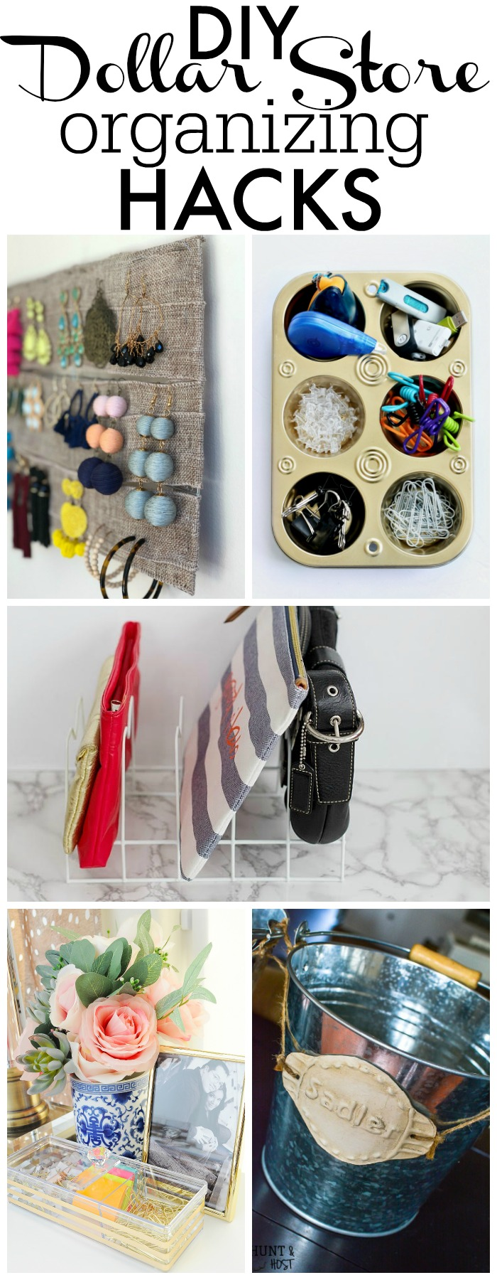 DIY Dollar Store organizing hacks - My Dollar Store DIY organizational ideas