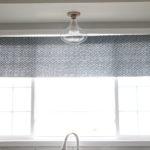 Kitchen Progress Update + DIY No-Sew Window Valence   New Year, New Room Refresh Challenge Week 5