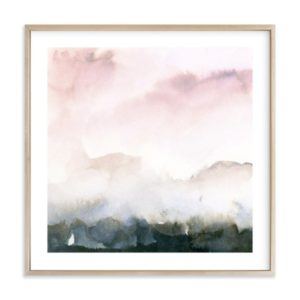 Blush Pink abstract art from Minted