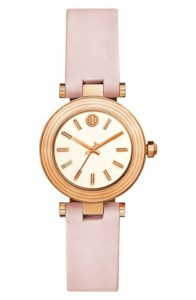 Blush pink and rose gold Tory Burch watch