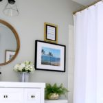 Modern, Bold & Beachy Basement Guest Bathroom Reveal