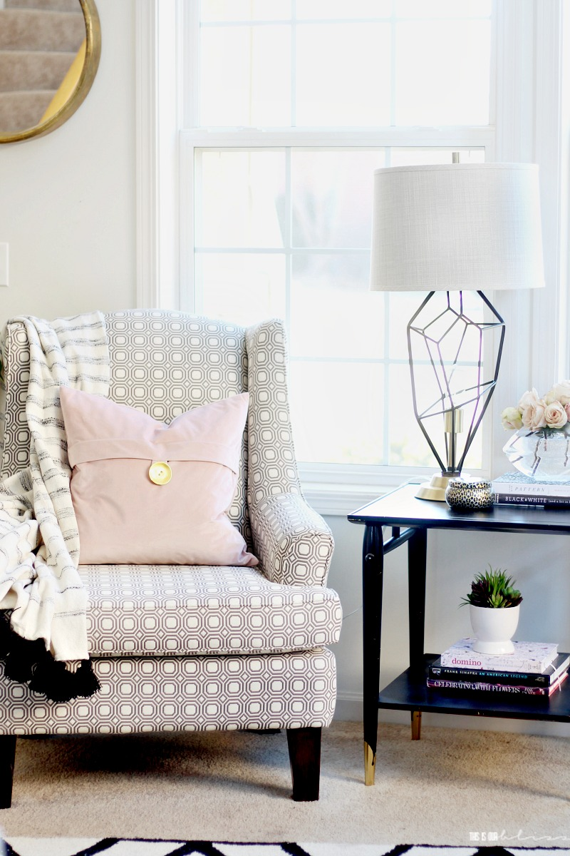 Blush and bold Spring Living Room Tour 2018 - Spring Tour of Homes ...