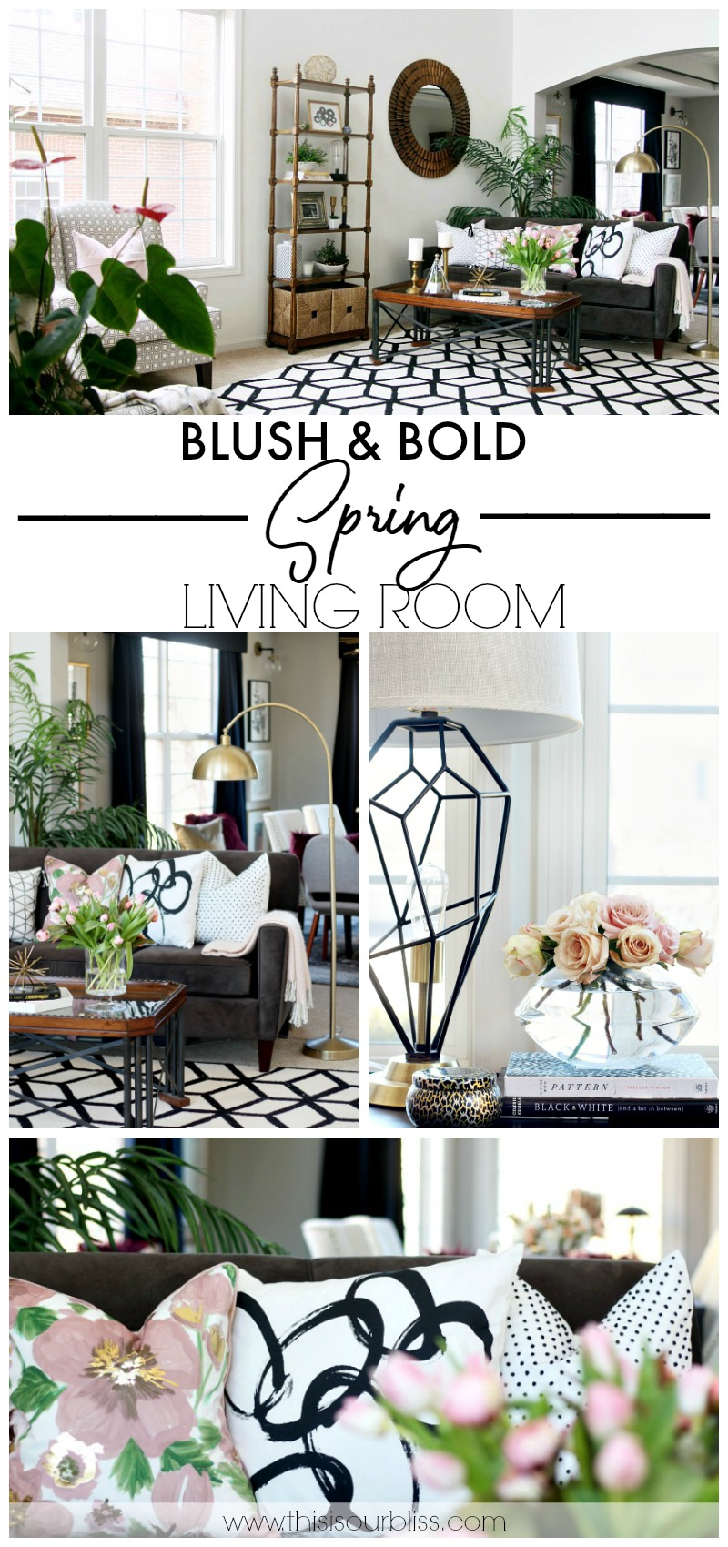 Blush and bold Spring Living Room Tour - Spring Tour of Homes 2018 - This is our Bliss
