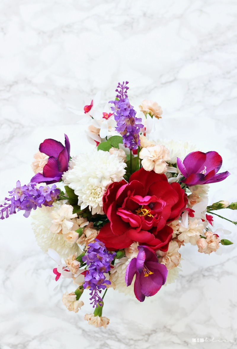 Quick And Simple Floral Arrangement Using Fresh Faux Flowers This Is Our Bliss