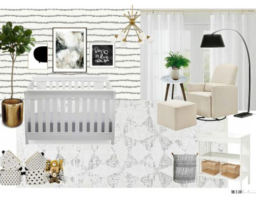 Sophisticated Neutral Nursery Mood Board - This is our Bliss