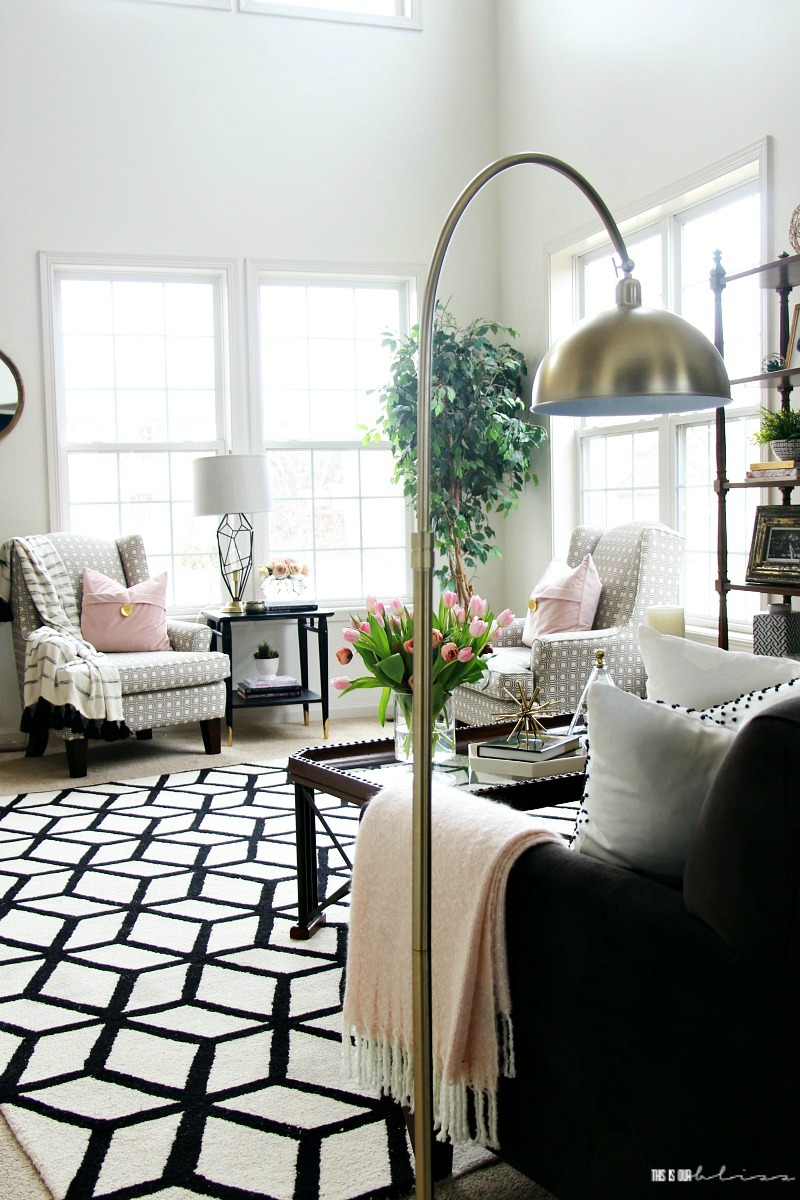 Spring Living Room Tour - 2018 Spring Tour of Homes - Blush pink ...