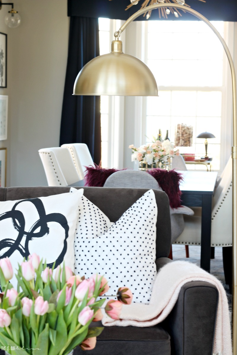Blush and Bold Living Room Tour - Spring Tour of Homes 2018 - This is our Bliss