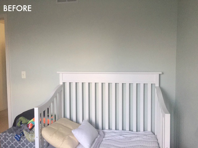 Nursery crib wall before photo - Spring 2018 ORC - This is our Bliss