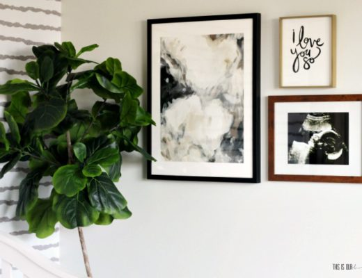 Nursery gallery wall with Minted art prints - Sophisticated Neutral Nursery - One Room Challenge Spring 2018 - This is our Bliss