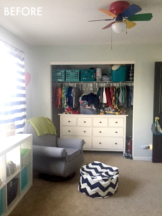 nursery and nursery closet before photo - One Room Challenge Spring 2018 - This is our Bliss