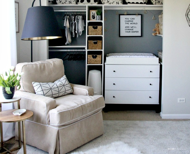 Sophisticated Neutral Nursery Reveal Spring 2018 One Room Challenge A Sweet