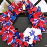 How to Make a Red White and Blue Scarf Wreath for Summer