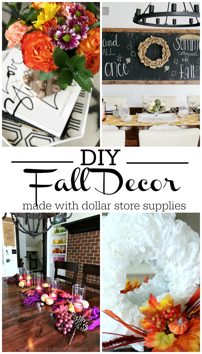My Dollar Store DIY - DIY Fall Decor made with dollar store supplies