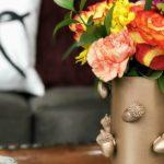 DIY Dollar Store Copper Acorn Vase