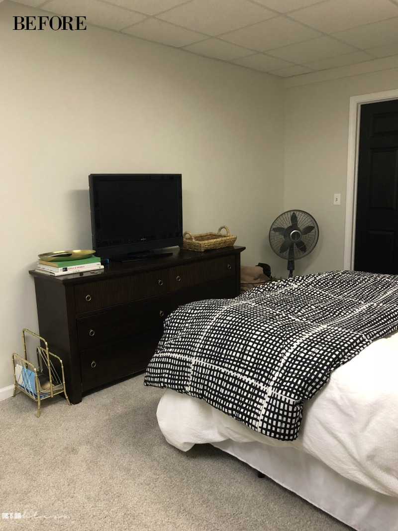 Basement guestroom before - This is our Bliss
