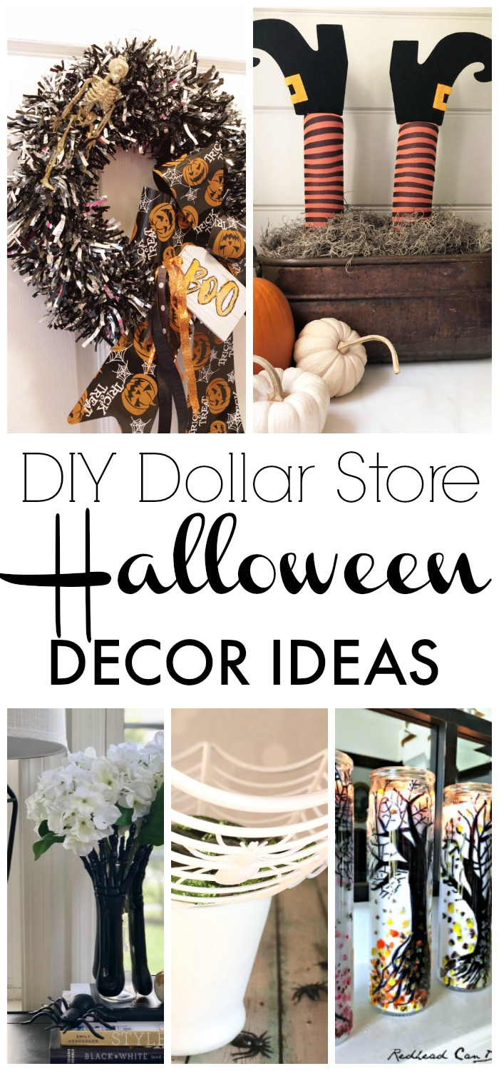 My DIY Dollar Store Halloween Decor Ideas