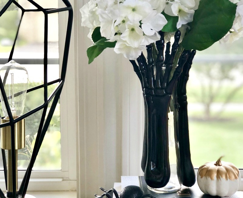 Diy Skeleton Hands Vase My Dollar Store Diy This Is Our Bliss