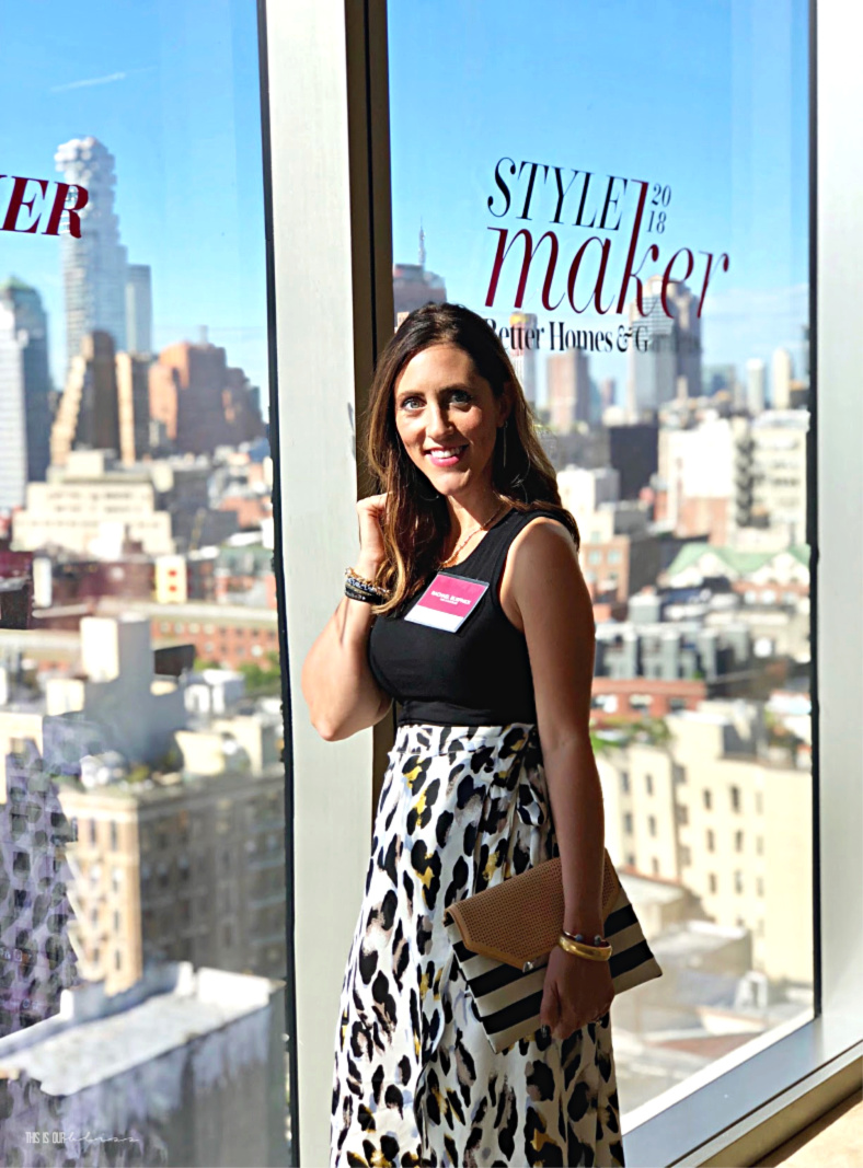 BHG Stylemaker outfit in NYC - leopard skirt at the Better Homes and Gardens Event - This is our Bliss