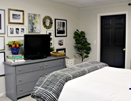 Basement Guest Bedroom Makeover - $100 Room Challenge - This is our Bliss