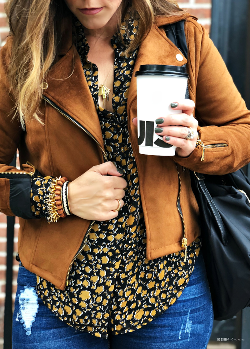 13 Ways to Add a Dose of Leopard into your Fall Wardrobe | Leopard blouse with Camel jacket in NYC - This is our Bliss