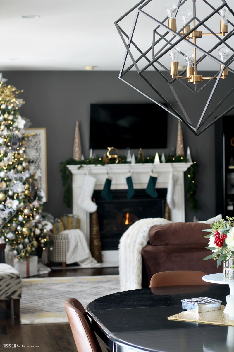 Christmas Family Room Tour with a peek into kitchen - This is our Bliss
