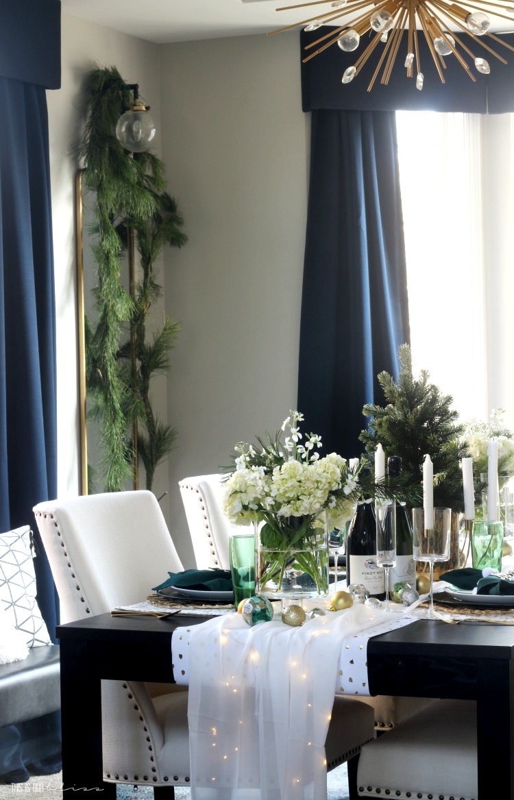 Christmas dining room decor - entertaining during the holidays - holiday hosting - This is our Bliss