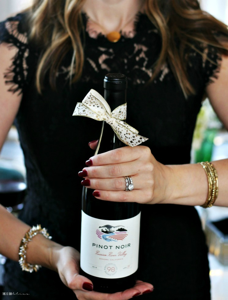 Christmas entertaining - pinot noir wine hostess gift - 90+ cellars - This is our Bliss