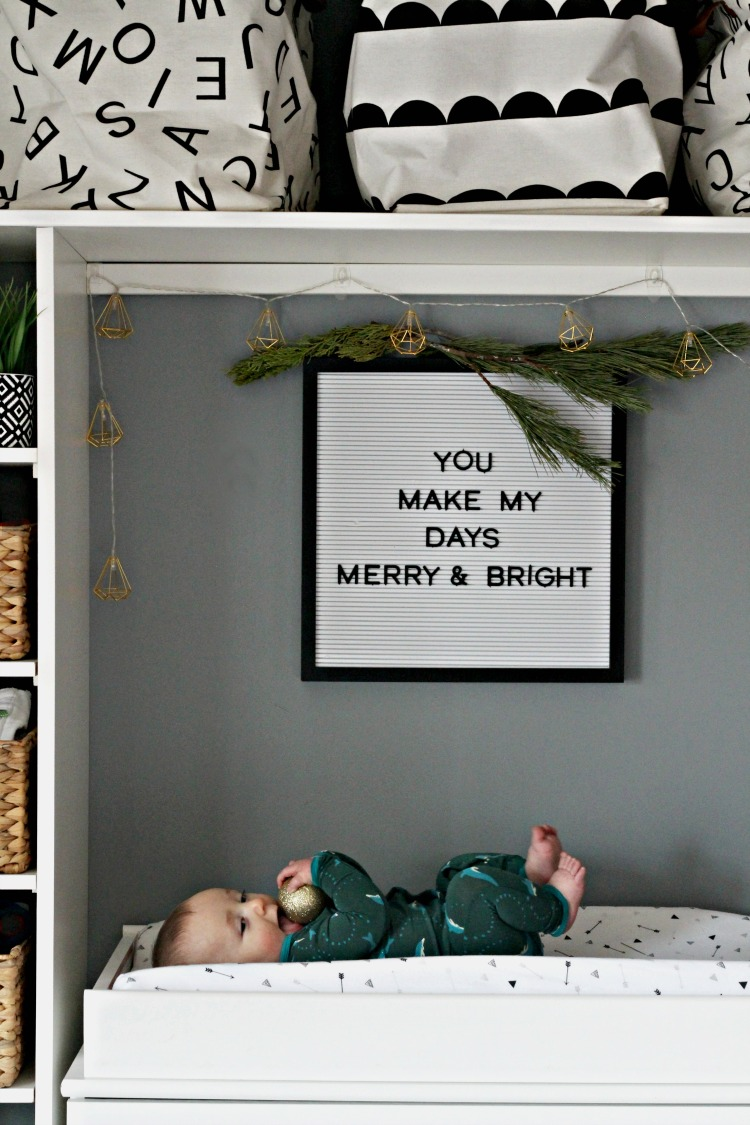 Christmas in the Nursery - You Make My Days Merry & Bright - This is our Bliss
