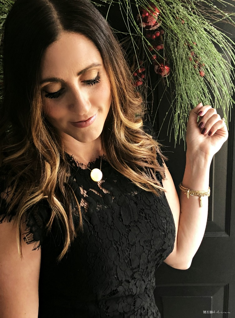 Elegant classic lace black dress - The Perfect LBD for the Holidays - black dress for under $40 - This is our Bliss