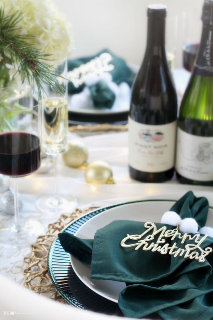 Holiday hosting - setting a beautiful Christmas tablescape to entertain - This is our Bliss