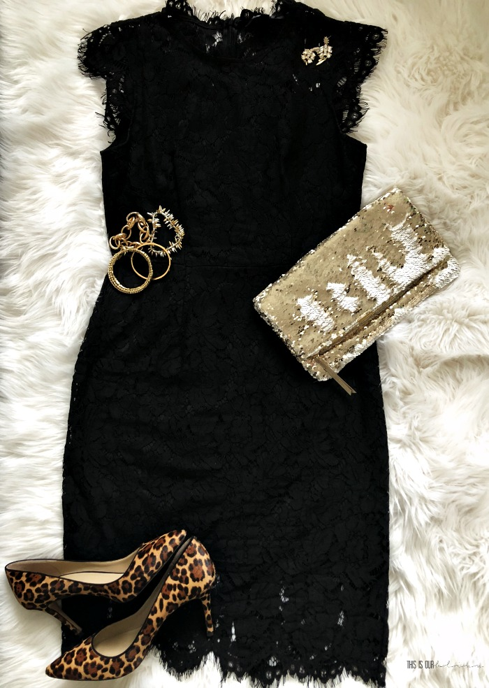 Little black dress with accessories - Elegant classic lace black dress - The Perfect LBD for the Holidays - This is our Bliss