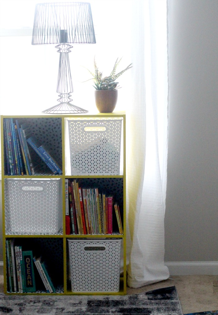 DIY yellow bookcase makeover - big boy room update - This is our Bliss