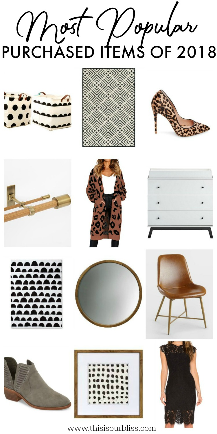 Most Popular Purchased Items of 2018 - Home and Style Finds - This is our Bliss