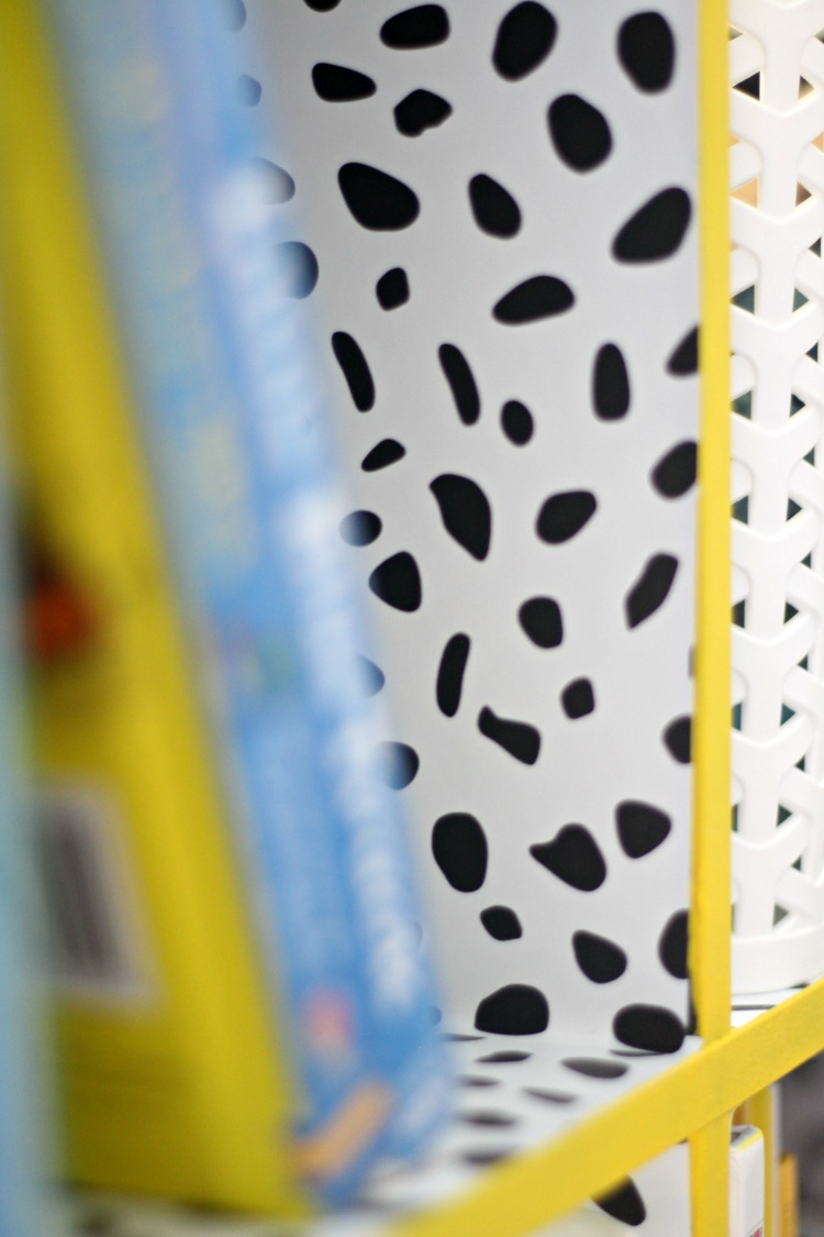 bright bold yellow bookcase for big boy room - How to take your bookcase from basic to bold - This is our Bliss