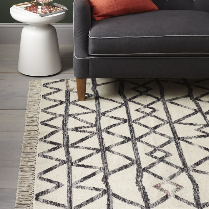 Torres Wool Kilim Iron Rug - Black and White Rugs for any room in your home! Top purchased item of 2018 on This is our Bliss