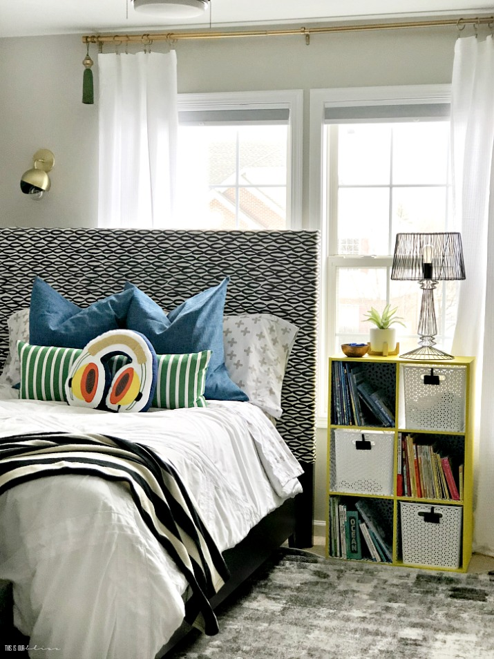Big Boy Room Reveal - Playful and pattern-happy boy room ideas - This is our Bliss