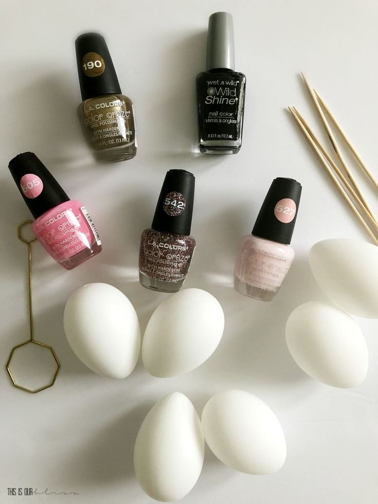 DIY supplies for marble eggs - This is our Bliss