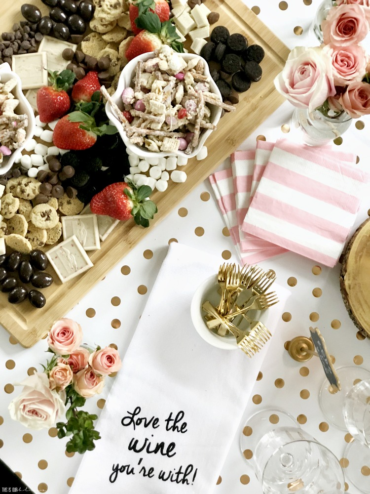 How to Make the Ultimate Sweets and Strawberries board for your next girl's night in - This is our Bliss