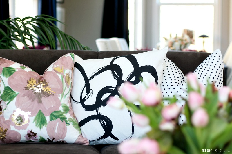 Need to whip your house into shape for Spring? Here are Simple ways to freshen up your home for Spring that won't break the bank - simple ideas for how to spruce up for Spring - This is our Bliss