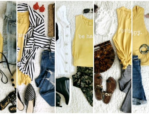 5 Ways to Wear a Graphic Tank Top featured - This is our Bliss
