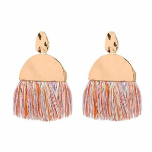 colorful tassel fan fringe earrings perfect for spring and summer - spring break favorites under $100