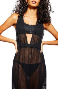 black mesh maxi cover-up