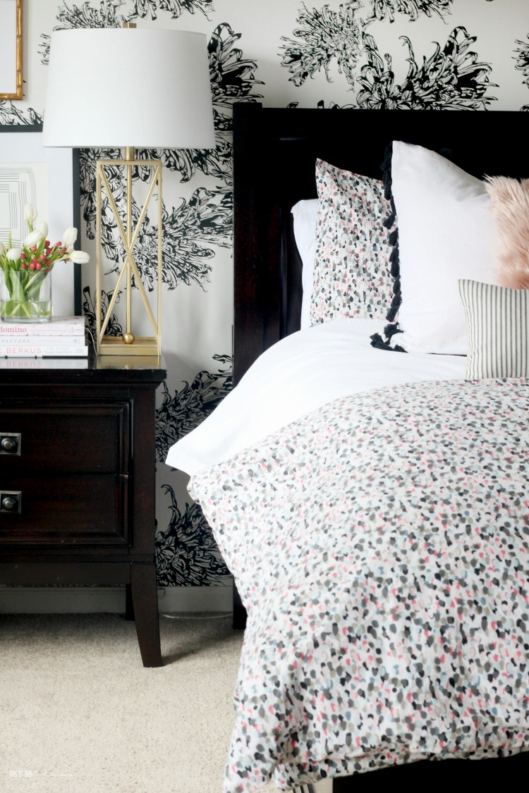 How to do a Mini Spring Refresh in the Bedroom with just three things - Spring styling in the Bedroom - This is our Bliss
