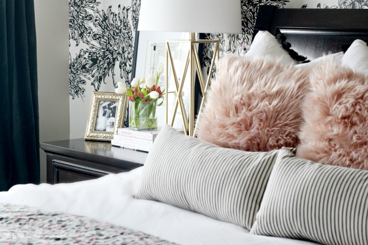 How to do a Mini Spring Refresh in the Bedroom - Bedroom styling - how to style a nightstand - This is our Bliss
