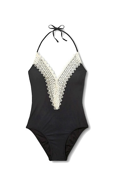 lace halter swim suit one piece - This is our Bliss