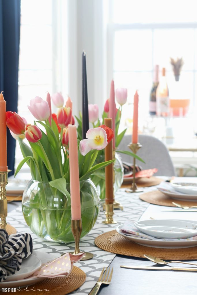 Ways to freshen up your home for Spring - Fill a vase with tulips - This is our Bliss