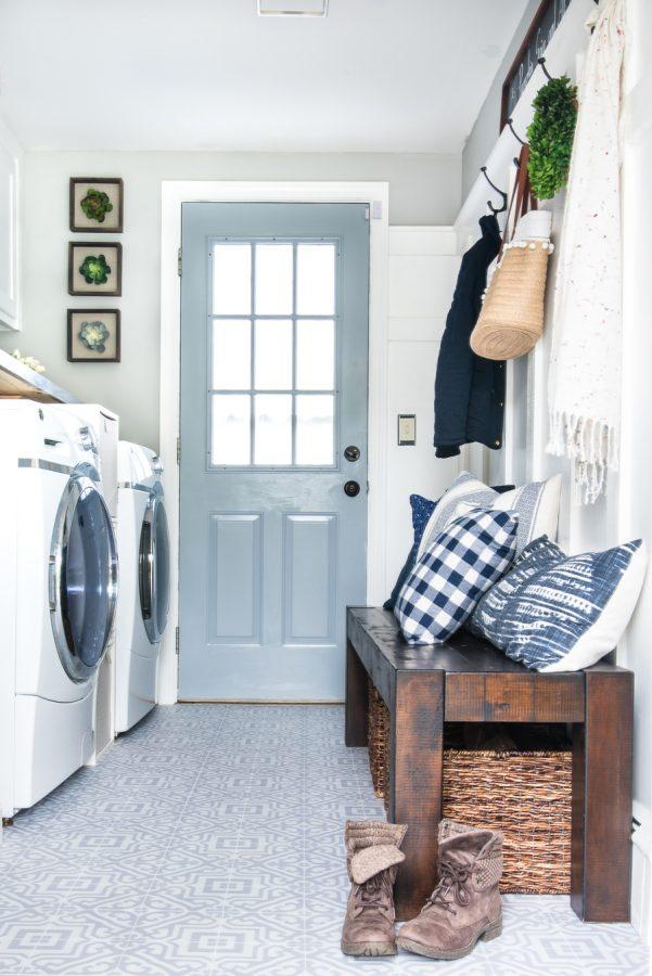 Bench Small Laundry Room Ideas