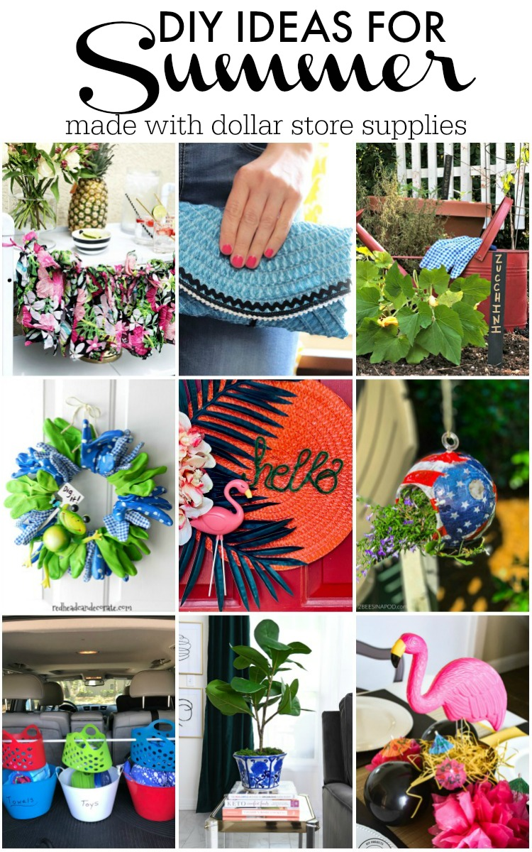 DIY Ideas for Summer - My Dollar Store DIY - DIY Summer decorating gardening and outfit ideas