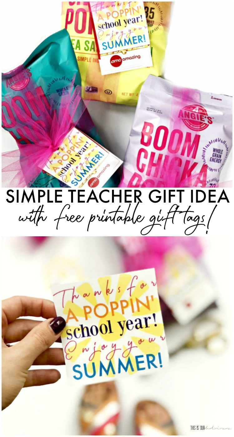 Simple Teacher Gift Idea With Free Printable Gift Tags This Is Our Bliss