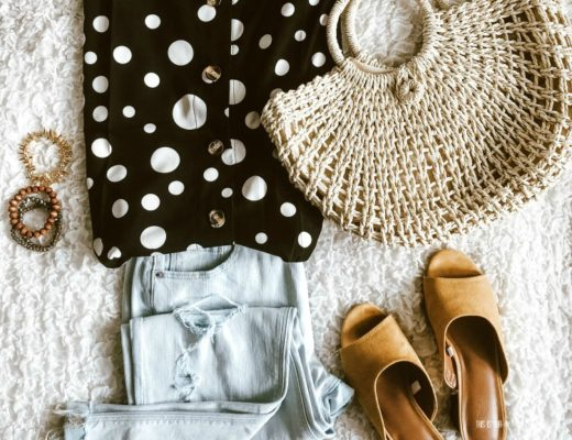 featured Casual Chic Style - simple and stylish Summer outfit ideas - polka dot tank with boyfriend jeans and straw bag - This is our Bliss